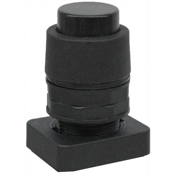 Accesoriu tip buton in relief culoare neagra