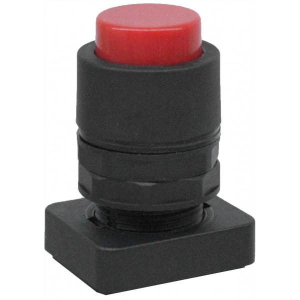 Accesoriu tip buton in relief culoare rosie