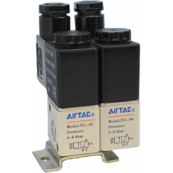Ansamblu electrovalve 3V1-06 2 posturi 12VDC