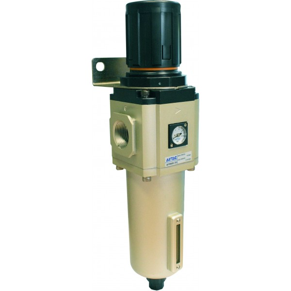 "Filtru 40 microni cu regulator de presiune si manometru exterior purjare semiautomata 3/4"""