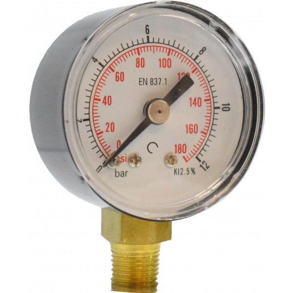 Manometru carcasa metalica radial Ø40  0-12 bar
