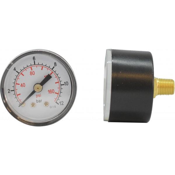 Manometru carcasa metalica posterior Ø40  0-12 bar