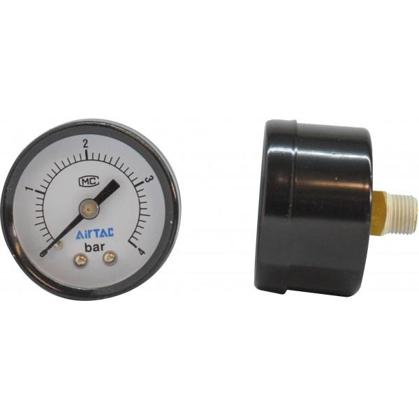 Manometru carcasa metalica posterior Ø40  0-4 bar