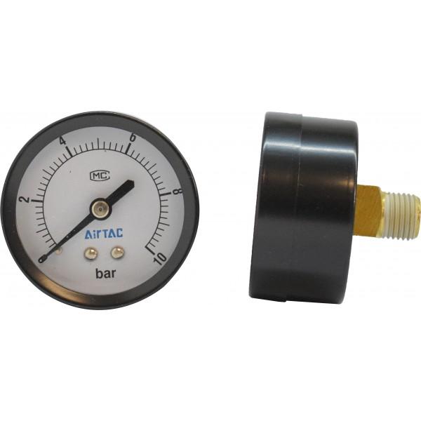 Manometru carcasa metalica posterior Ø50  0-10 bar