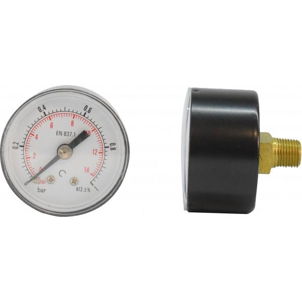 Manometru carcasa metalica posterior Ø40 0-1 bar
