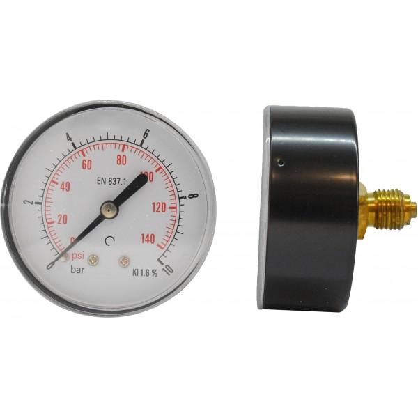 Manometru carcasa metalica posterior Ø63  0-10 bar
