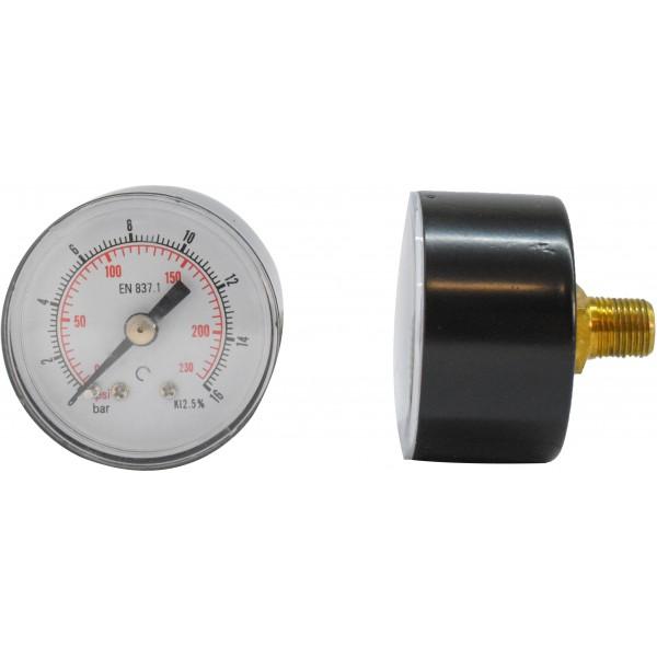 Manometru carcasa metalica posterior Ø40  0-16 bar