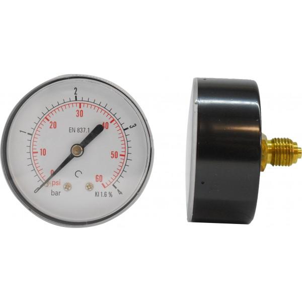 Manometru carcasa metalica posterior Ø50  0-4 bar